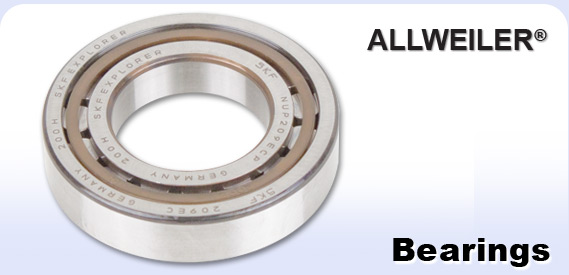 Allweiler logo and pump bearing