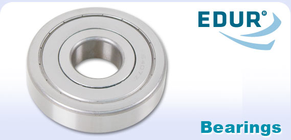 EDUR logo and pump bearing