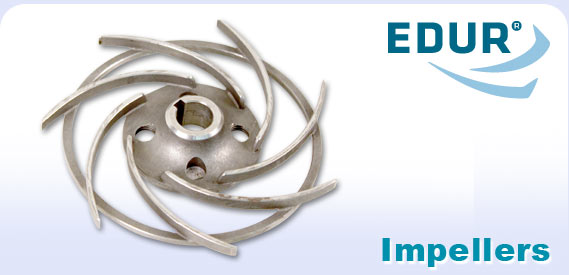 EDUR logo and pump impeller