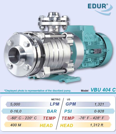 High Pressure Multi Stage Pump : Edur vbu series multistage high pressure centrifugal