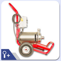 Hilge Euro-Hygia Pump Cart Series Alternative Pump View