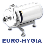 Hilge Euro-Hygia Series Single-Stage Stainless Steel Centrifugal Beverage and Brewery Pump