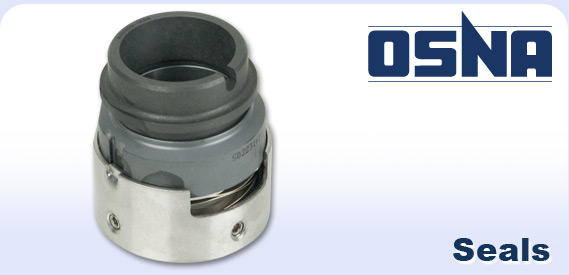 Osna logo and a pump seal
