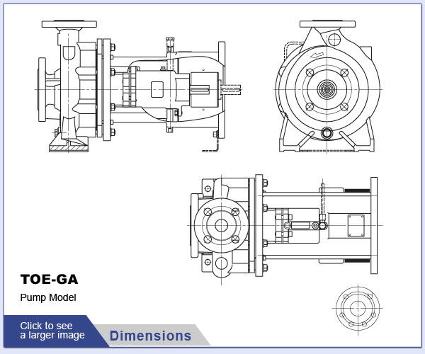 SPECK - TOE-GA - Pump Dimensions