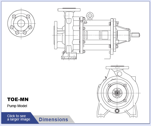 SPECK - TOE-MN - Pump Dimensions
