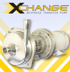 The XChange™ Centrifugal Stainless Steel Brewery Transfer Pump